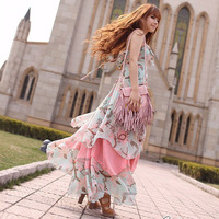 Hot sale 2013 women European and American bohemian long dress beach dress.