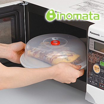 Inomata plastic microwave oven heated lid dish cover dust cover lids 1032