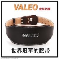 HOT Professional all black 15 ultra wide valeo cowhide waist support belt fitness