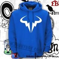 Tennis sport hoody Thickening hoodie sweatshirt Befriended Nadal quality lovers thermal pullover fleece outerwear
