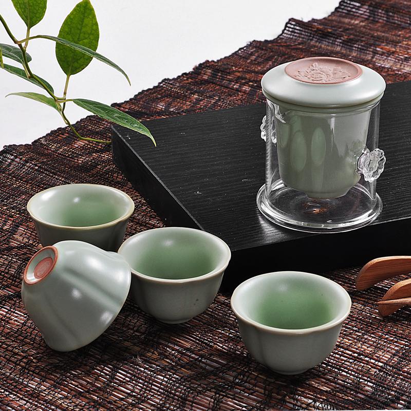 Hot selling new 2013 Car travel tea set ceramic kung fu tea ru cup black tea