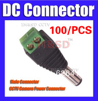 Freeshipping 2.1 x 5.5mm CCTV Male DC Jack DC Connector Power Plug for Security CCTV Camera System
