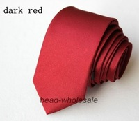 Free Shipping Retail 1pcs/lot Silk Ties For Men Solid Colors Red Suits Necktie (Mini order $15-can mix order)