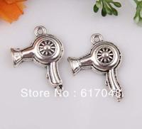 Wholesale135pcs Zinc alloy Hair Dryer Charms 20x24mm  C620C