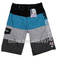 Sports Mens Leisure Casual  Blue Scrawl Board Shorts Beach Surf Swim Wear Swimming Pants Swimsuits