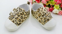 wholesale spring and autumn cute hook  soft bottom leopard shoes  baby first-walker  4pair/lot free shipping