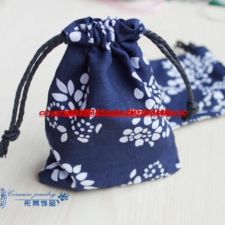 jindezhen ceramic crafts jewelry bags fashion necklace bags blue box store wholesale(China (Mainland))