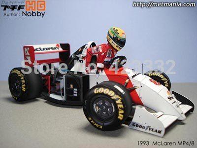 F1 model cars 1993 mclaren mp4-8 with 3d senna(China (Mainland))