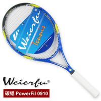 Free Shipping Weierfu racquet tennis racket powerfil 0910 blue