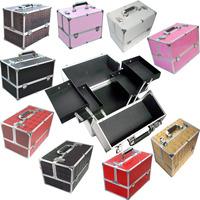 Free Shipping Retail The Body Shop High Grade Black Crocodile Pattern Aluminum Makeup Case Makeup Box
