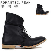 Fashion male boots the trend of high men's boots fashion genuine leather fashion boots men's boots