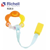 free shipping Crocheters smiley baby teethers fitted clip rattles, teeth stick richell