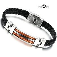 #BA100866 Wholesale! New 2014 Hot Fashion Band Style Stainless Steel Loom Men's Bracelet Bangles