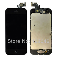 black LCD Display Touch Screen Digitizer Assembly replacement +Home Button+Front Camera For iphone 5