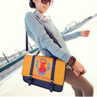 Korean Version Of The Latest Printing Deer England Retro Complex Sprouting Casual Briefcase Bag Handbag Shoulder Bag BG471