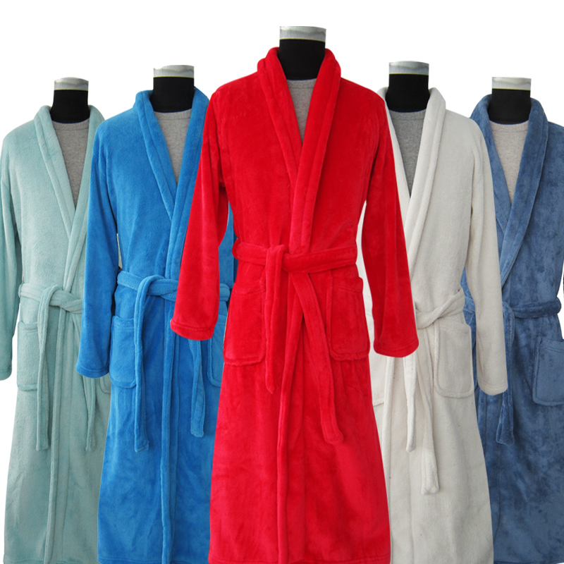 Long fleece robes