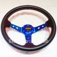 2013 New: 350MM MOMO Steering Wheel Carbon Fiber New Design / MOMO Carbon Steering Wheel with Carbon Fiber Cover