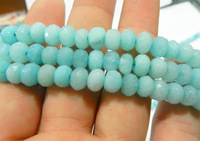 Hot sale DIY Beads 5x8mm Light Blue Faceted Brazilian Aquamarine Loose Beads Fit with earrings bracelet necklace 15inch AAA