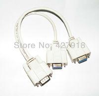 Mini HDMI to VGA Cable 1 male 2 female 15pins Y SPLITTER CABLE SVGA VGA 1 PC to 2 MONITOR