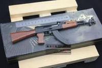 Domestic 56 ak47 pallets assembling metal artificial gun model birthday gifts