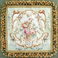 15 Mesh 100% Pure silk  Beautiful  Aubusson Cushion Cover/ Aubusson Silk Pillow/tapestry grade Flat Weave pillow