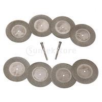 Free Shipping 8pcs 50mm Diamond Cut Off Disc Wheel Rotary Tool w/ Arbor