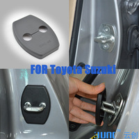 YUNC for Toyota Yaris Highlander Vios(2010-2013) Corolla Prado Prius RAV4 car door lock protection cover  parts Free shipping