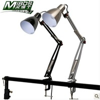 Doctor work metal clip lamp long arm desk lamp light to learn to read and write, Free Shipping