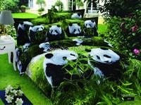 Cute panda Animal bedding set oil painting bed linens sheets cotton quilt/duvet covers 4pcs Queen/Full comforter