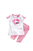 Baby Kids Clothing Suit 2 Pcs T Shirt And Pants Children Summer Wear Little Girls Clothes130626-68W^^EI