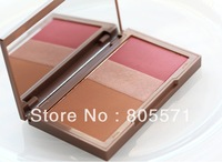 Free shipping ,1pcs  3colors makeup Flushed  blush  new  arrival.