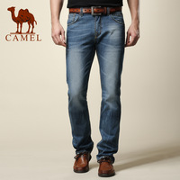 Camel men's clothing water wash jeans male straight male casual long trousers new arrival trousers 089003