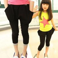 2013 female child summer pants casual 100% cotton skinny pants capris