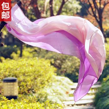 free shiping 2013 fashion Rglt elegant pure silk scarf cape metal pendant gradient silk mulberry silk scarf