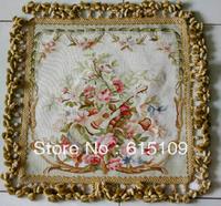 15 Mesh 100% Handmade Fashion Cushion Cover/Aubusson Silk Pillow/tapestry / Flat Weave pillow