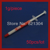 Wholesale 1g Thermal Grease Paste Compound PC CPU Heatsink Tube 50pcs/lot Free shipping