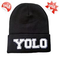 Free Shipping 2014 newest cheap  YOLO BEANIE Men Women hip hop new arrival hot sale wholesale B802
