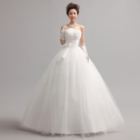 2013 New arrival Tube Top Crystal handmade flower sweet princess bride dresses wedding dress