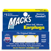 American Mack's ORIGINAL earplug for sleeping swimming military snore water proof muffler anti-noise professional 4 pcs with box