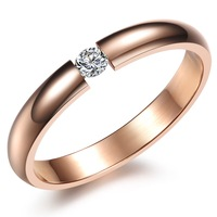 Min order $10 free shipping Fashion jewelry rose gold filled exquisite women's titanium ring n373