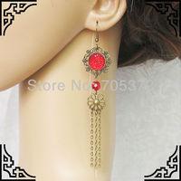 Wholesales Fast Shipping Fashion Female Long Tassle Earrings Bronze Vinatge Personality  Chandelier Earrings Chain