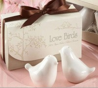 100Pcs/Lot=50 Sets/Lot, Hight Quality ,Love Bird Salt And Pepper Shakers In Stock/ Wedding Favors, Freeshipping