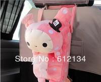 Free shipping Car accessories Rilakkuma San-X Cute Plush Car Tissue Box Cover w/Strap pumping paper box set auto supplies