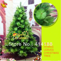 2014 free shipping 210cm PVC festival & party artificial decorations Xmas tree decorative leaves mixed christmas trees