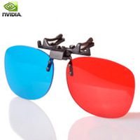 Nvidia  red and blue  clip myopia computer tv  linear polarized 3d glasses for 3d 4d movies