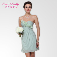 Betty tube top flower short design bridesmaid dress chiffon dress sweet bridesmaid dress sister dress
