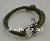 free shipping 5pcs a lot Travel essentials high quality anchor shackle paracord Security bracelet