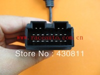 Free shipping high quality OBD 16pin FEMALE TO KIA 20pin connector Adapter Cable support wholesale
