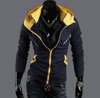 Fashion Man's Designer Casual One piece Double Zipper Hoodie Sweatshirts Jackets Men's Coat outdoor overcoat