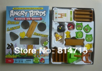 Free Shipping Plastic Bird Toys Desktop Bird Games Slingshot Bird Toys